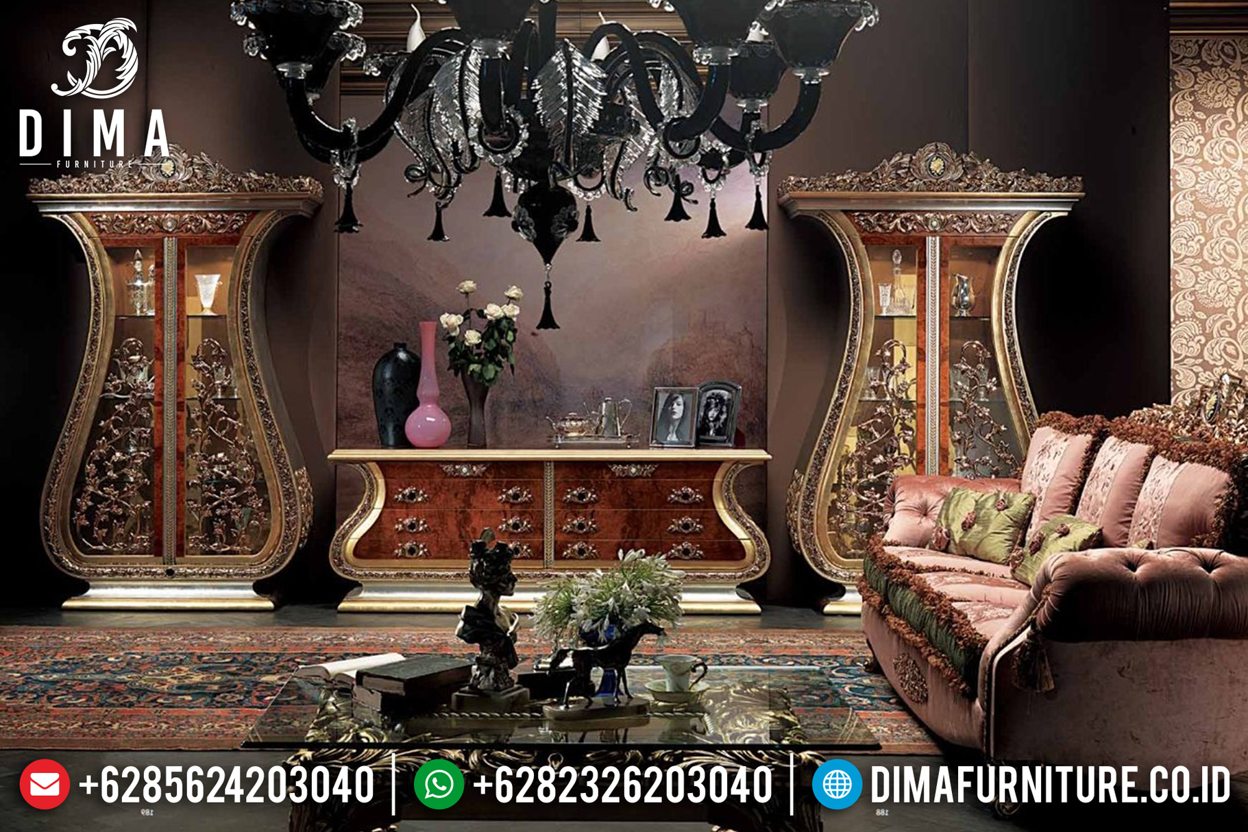 Lemari Hias Bufet TV Jepara Mewah 2019-2020 BT-0065
