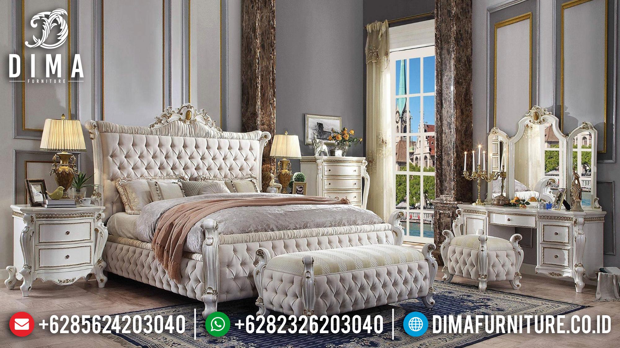 Model Ranjang Tempat Tidur Jepara Mewah Jati Duco BT-0082