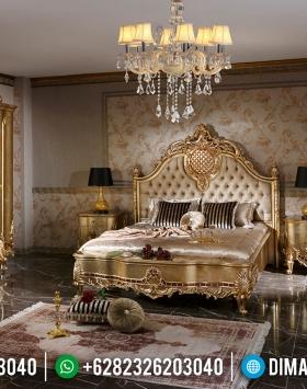 Set Kamar Tempat Tidur Mewah Jepara Gold Leaf BT-0045