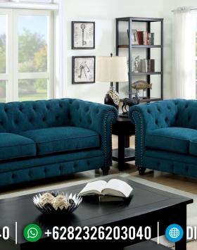 Set Sofa Tamu Jepara Chesterfield Minimalis BT-0058
