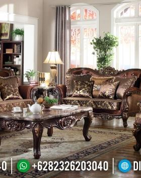Set Sofa Tamu Jepara Ukir Jati Natural Mewah BT-0055