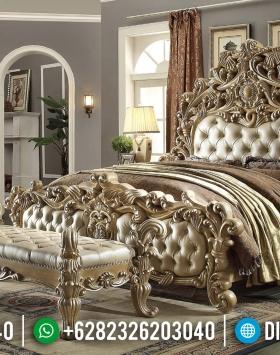 Jual Tempat Tidur Mewah Jepara Ukiran Klasik Duco BT-0100