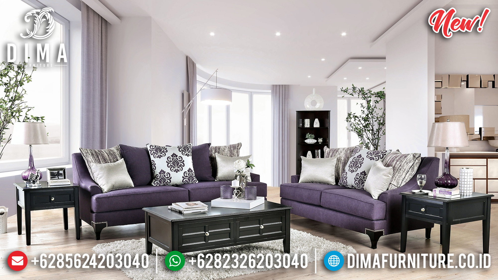 Set 3 2 1 Sofa Tamu Minimalis New Models BT-0196