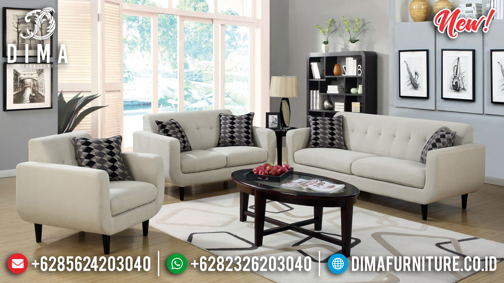Sofa Tamu Minimalis Zesica New Model BT-0199