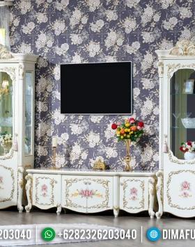 Desain 2020 Bufet TV Mewah Klasik Gaya Eropa BT-0291