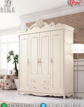 Harga Lemari Pakaian Mewah Duco Putih Glossy BT-0269