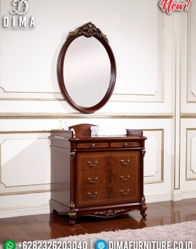 Meja Konsol Mirror Natural Elegan Walnut Wood BT-0277