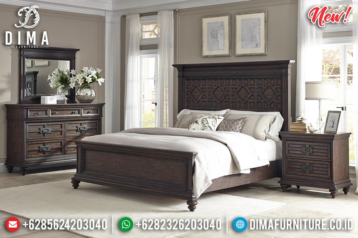 New Desain Kamar Set Klasik Minimalis Jati Berkualitas BT-0232