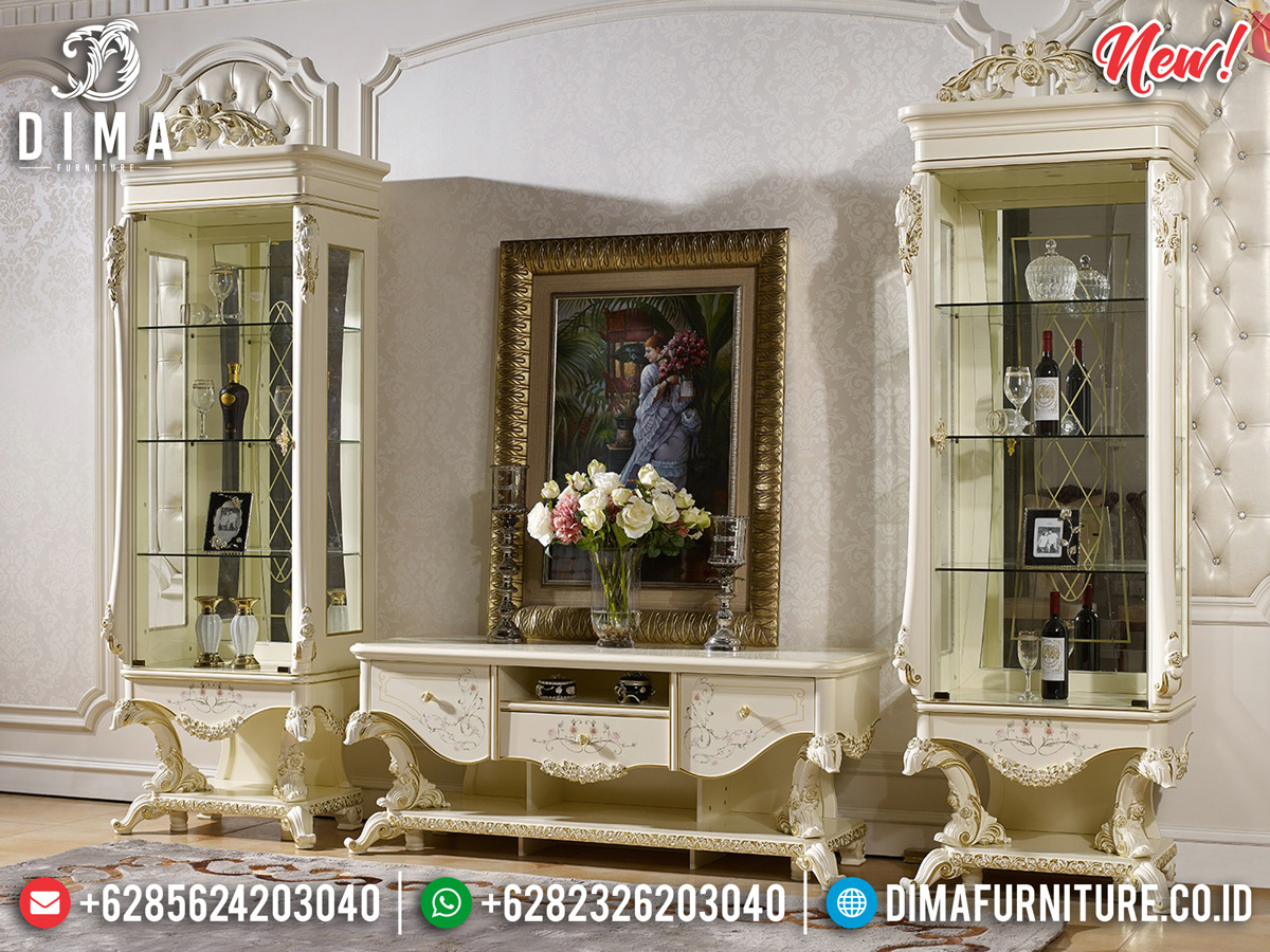 New Design Bufet TV Mewah Jepara Luxury Classic Carving BT-0294