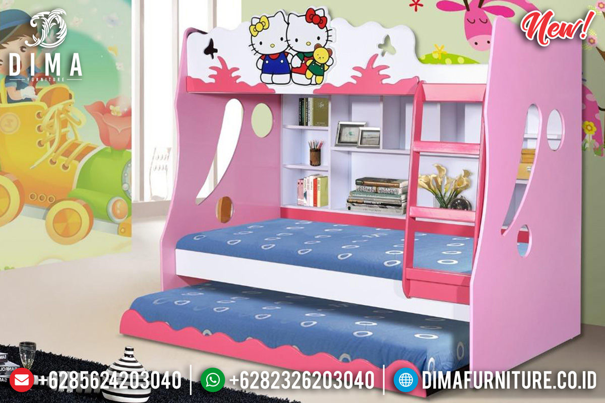 Popular Desain Set Kamar Anak Tingkat Hello Kitty Pretty Pink BT-0250