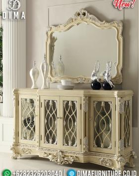 Terbaru Meja Konsol Set Cermin Dinding Hias Duco Ivory BT-0279