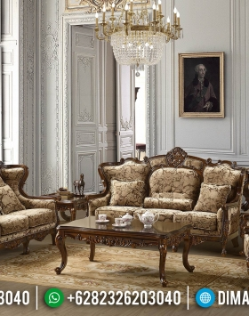 Furniture Jepara Terkini Sofa Tamu Mewah Ukiran Jati Natural Luxury BT-0367