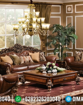 Jual Murah! Set Sofa Tamu Jepara Desain Mewah Full Ukir BT-0310