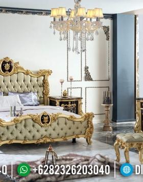 Kamar Set Tempat Tidur Mewah Golden Sunrise Ukiran Klasik Jepara BT-0357