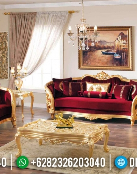 New Sofa Tamu Mewah Golden Shining Glossy Furniture Jepara Murah BT-0360