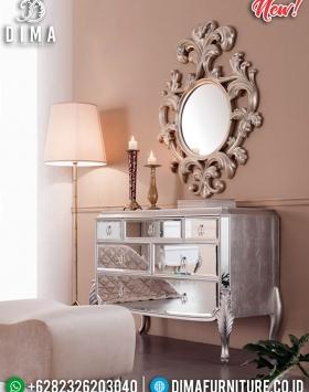 Set Cermin Dan Meja Konsol Mewah Silver Leaf Glass Combine BT-0327