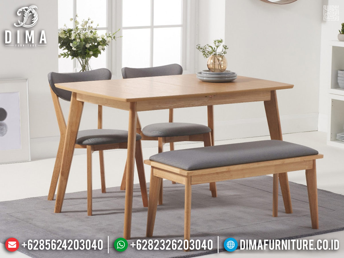 Set meja makan minimalis natural modern new 2020 BT-0333