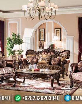 Sofa Tamu Mewah Natural Jati Furniture Jepara Terbaru BT-0363