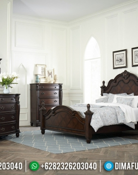 Furniture Jepara Kamar Set Klasik Minimalis Natural Dark Brown BT-0425