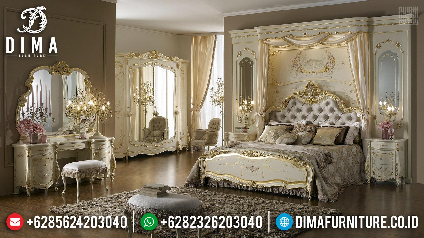 Harga Tempat Tidur Mewah European Classic Furniture Jepara Luxury BT-0385