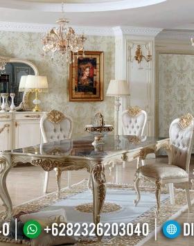 Meja Makan Mewah Madonna Furniture Jepara Terbaru Luxury Classic BT-0371