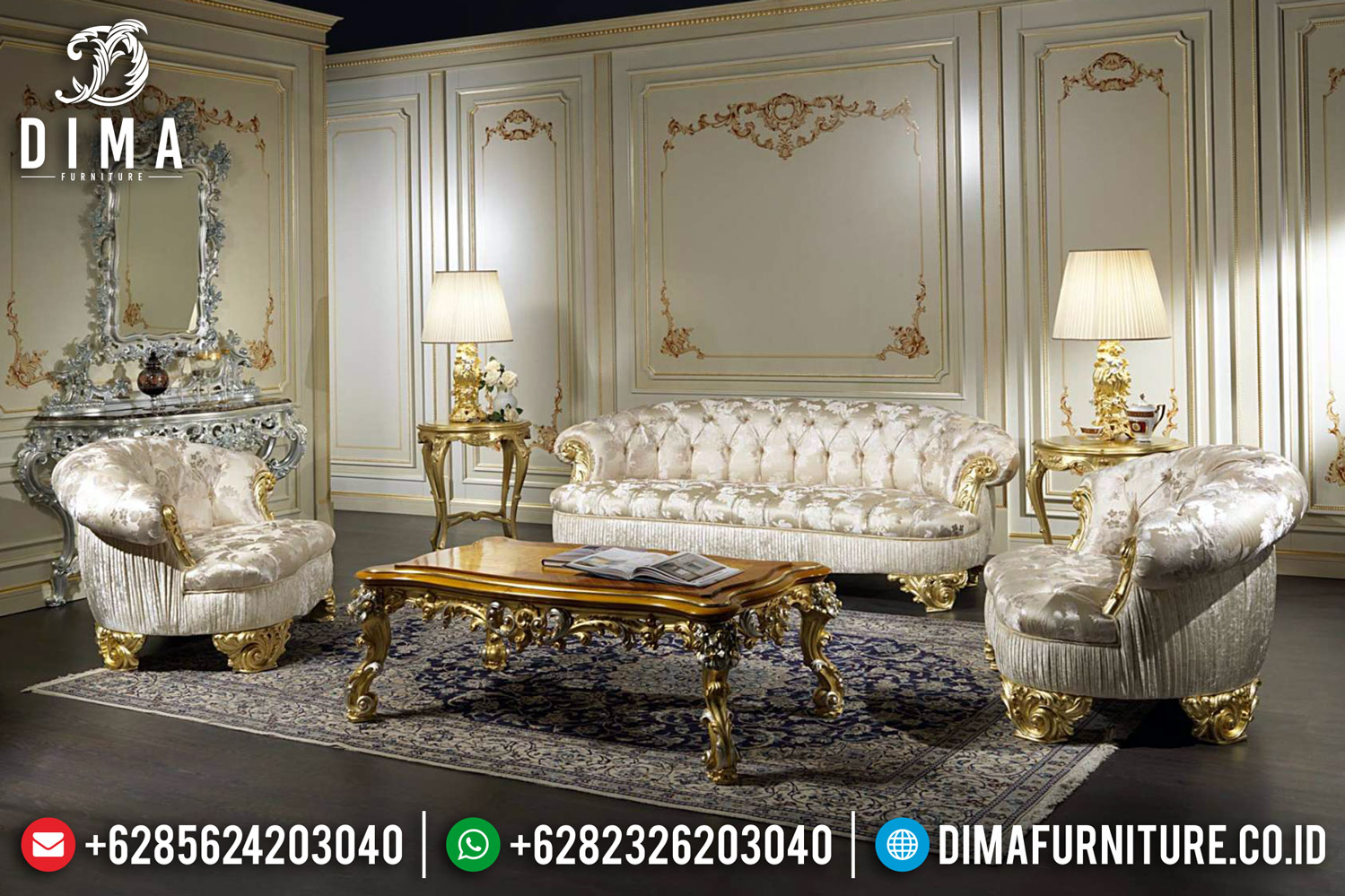 New Design Sofa Tamu Mewah Keluaran Terbaru Ukiran Khas Jepara BT-0412