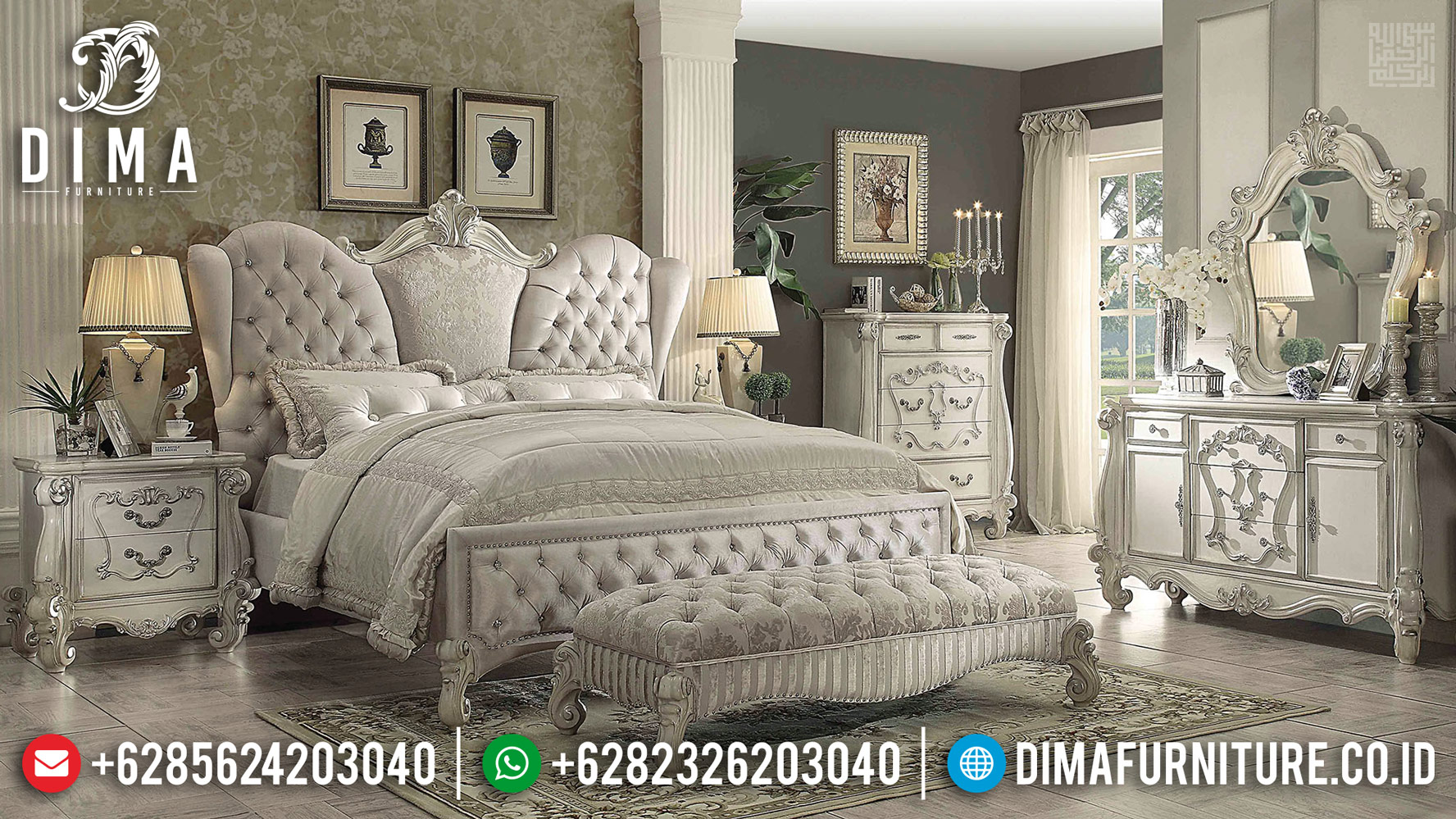 New Kamar Set Mewah Furniture Jepara Luxury BT-0388