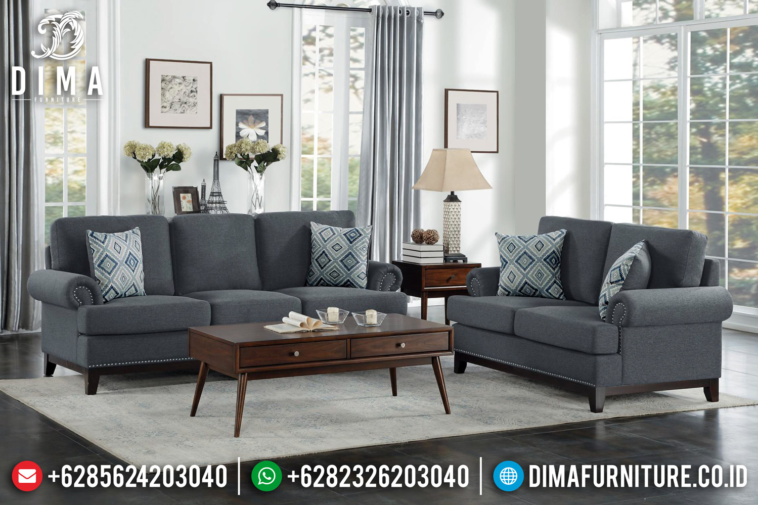 New Sofa Tamu Minimalis Modern Kayu Jati Perhutani BT-0430