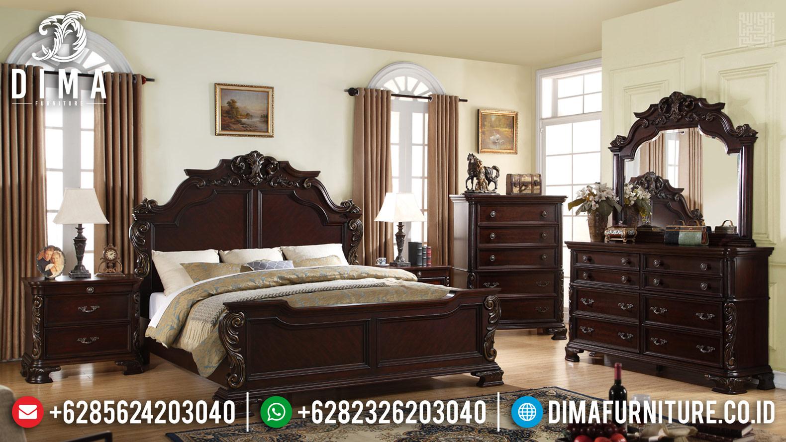 New Tempat Tidur Jepara Classic Natural Salak Brown BT-0393