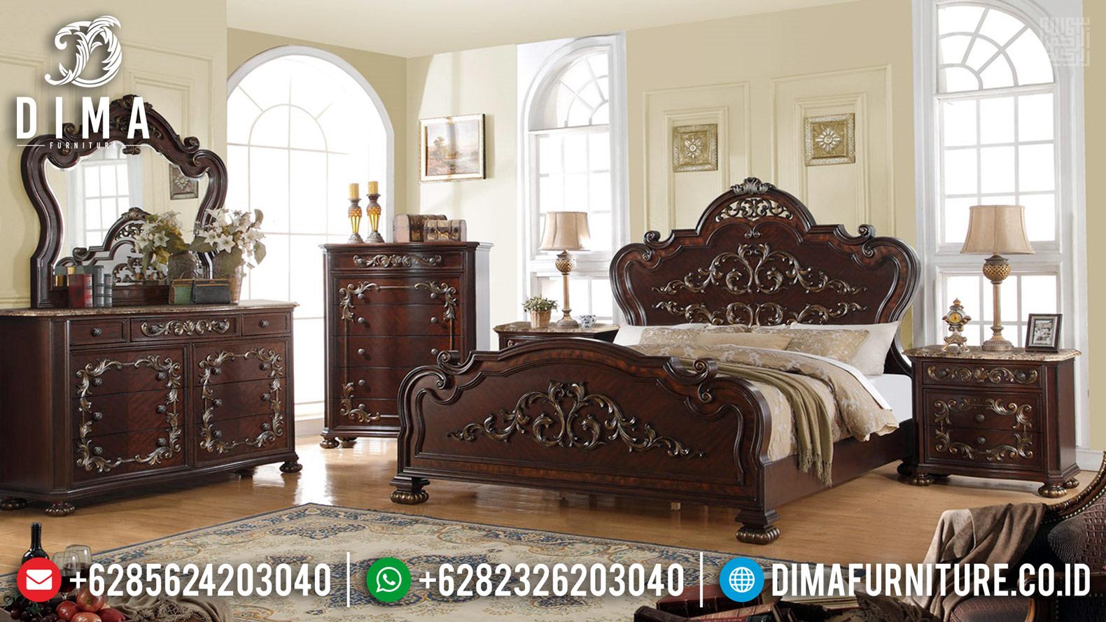 Tempat Tidur Jepara Natural Klasik Ukiran Mewah BT-0392