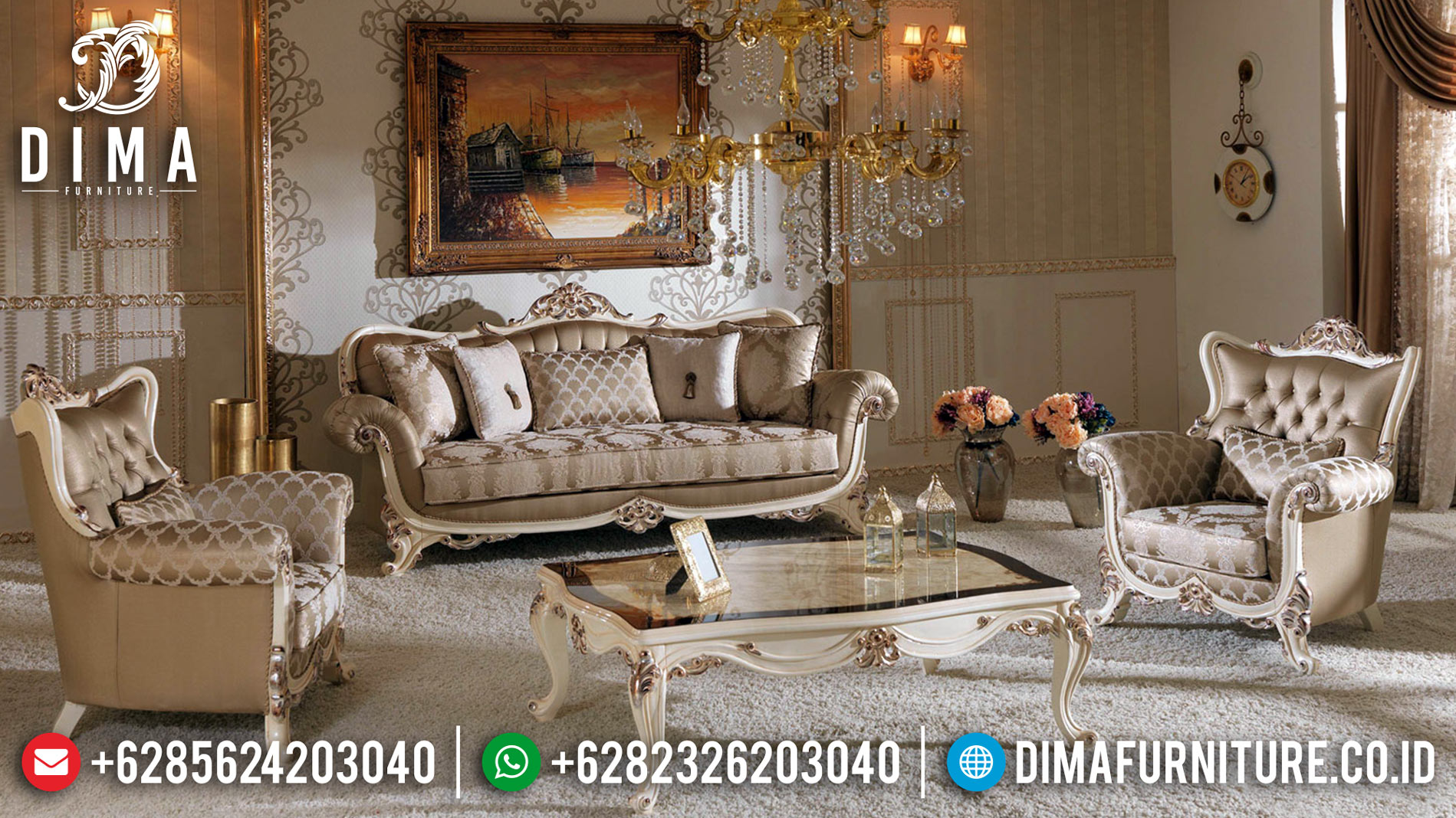 Best Price Sofa Tamu Mewah Ukiran Classic Luxury Furniture Jepara BT-0440