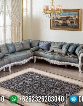 Desain Sofa Tamu Sudut Mewah Ukiran Klasik Luxury Royals Furniture Jepara BT-0567