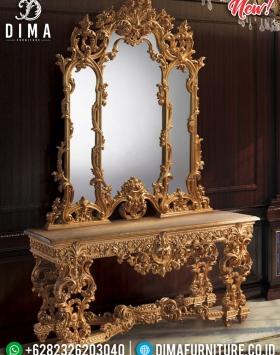 Design Interior Luxury Meja Konsol Jepara Royals Classic Carving BT-0473