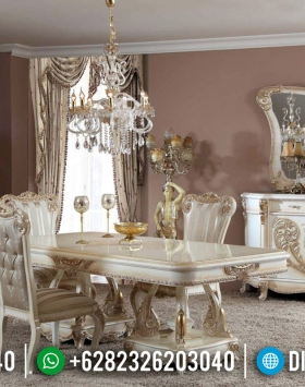 Design Meja Makan Mewah Royals Classic Luxury Carving Jepara BT-0496