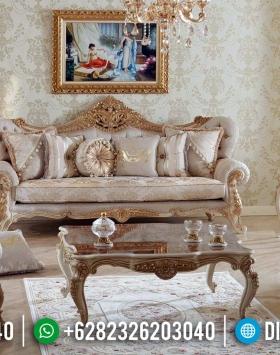 Furniture Jepara Elegant Sofa Tamu Mewah Mahkota Ukir Luxury Carving Jepara BT-0572