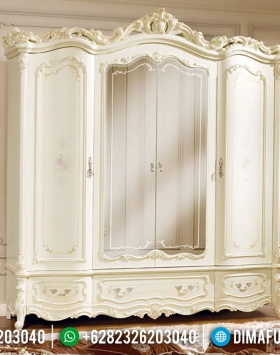 Jual Lemari Pakaian Cermin Mewah Royals White Duco Classic BT-0507