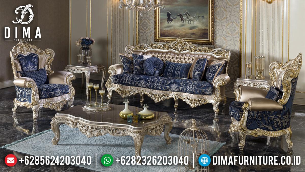 Kursi Sofa Tamu Mewah Ukiran Luxury Golden Glossy Combination BT-0461