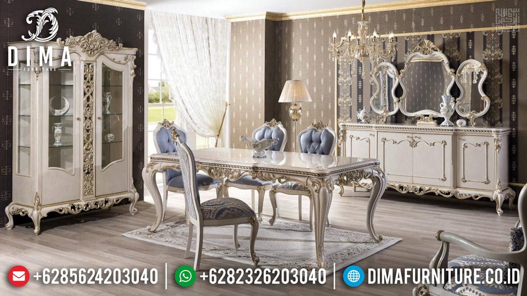Meja Makan Jepara Desain Mewah Ukiran Royal Luxury Classic BT-0485