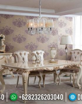 Meja Makan Mewah Jepara, Set Kursi Makan Classic, Sets Dining Table Luxury BT-0484