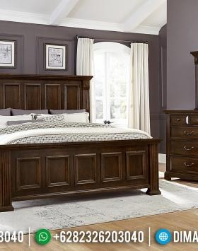 Model Tempat Tidur Minimalis Jati Natural Classic Jepara Berkualitas BT-0502
