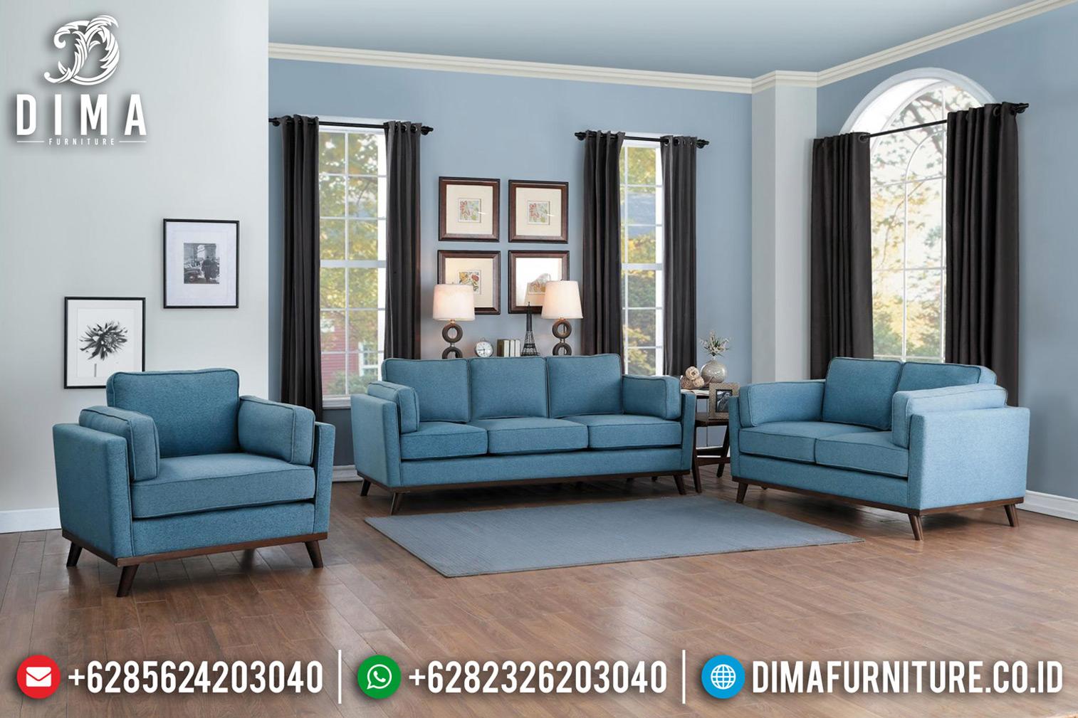 Desain Ruang Tamu Minimalis Sofa Tamu Modern Natural Jati Jepara BT-0623