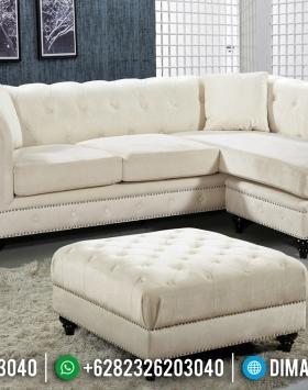 Desain Sofa Tamu Minimalis Leter L Type Chesterfield Furniture Jepara Berkualitas BT-0619