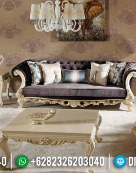 Furniture Jepara Sofa Mewah Luxury Classic White Duco Combination BT-0602