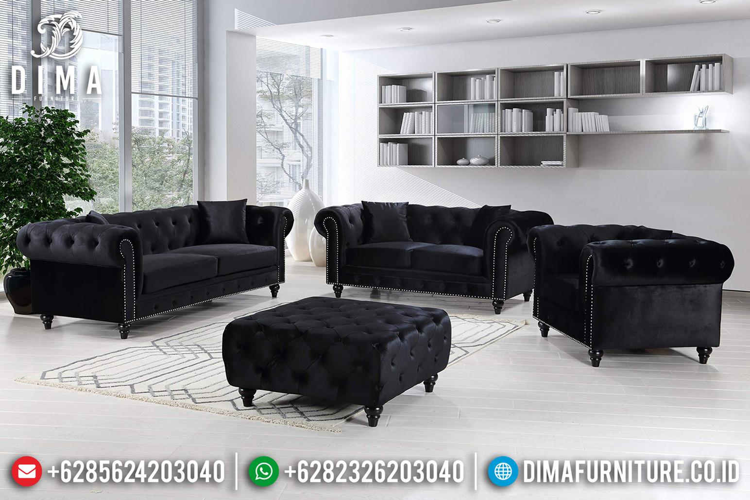 Furniture Jepara Sofa Tamu Minimalis Jepara Natural Jati Type Chesterfield BT-0626