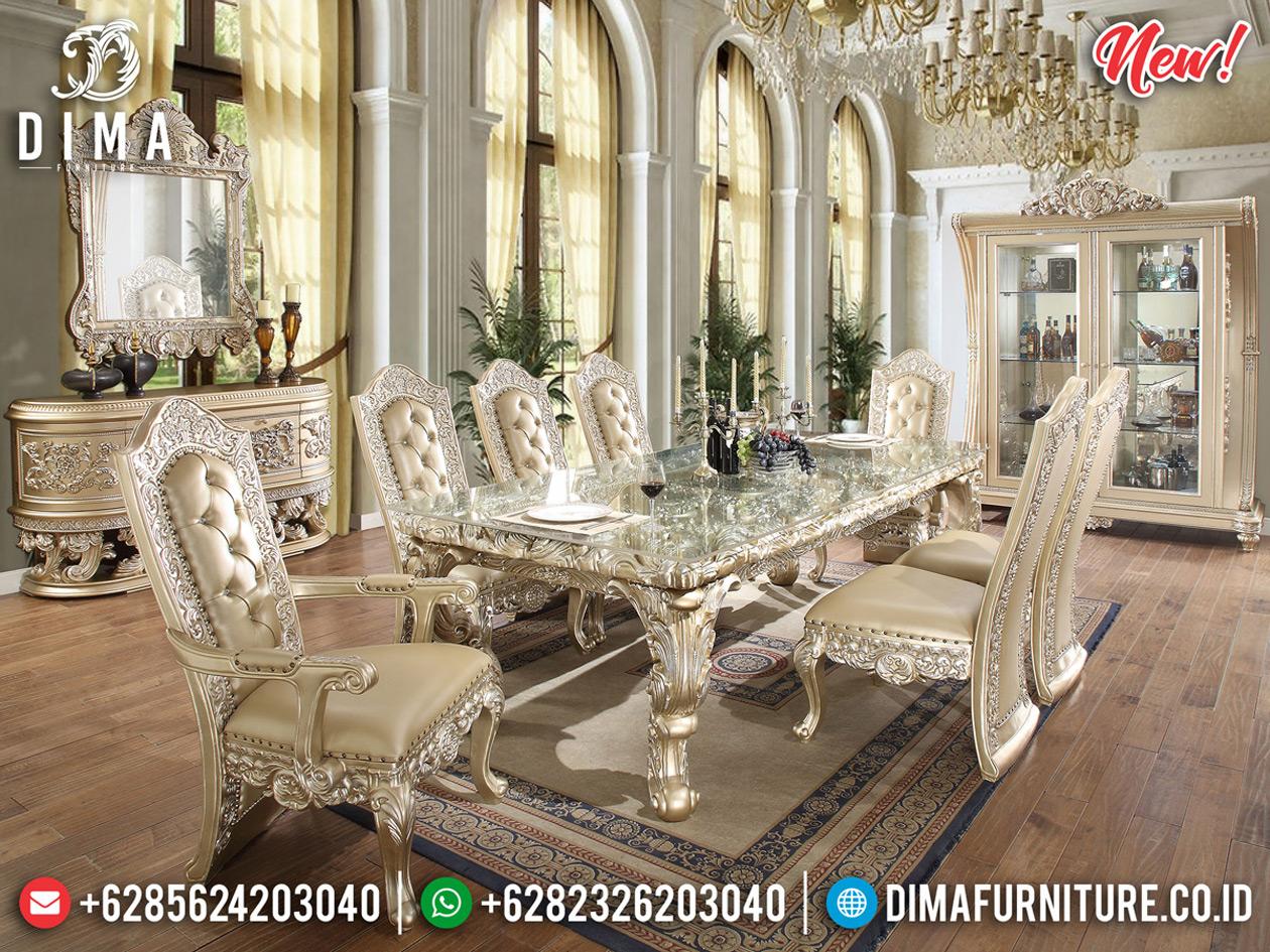 Meja Makan Mewah Vespuci Design Superior Luxury Elegant Great Quality BT-0609