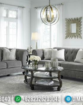 Set Sofa Tamu Minimalis Desain Terbaru Natural Classic Jati Jepara BT-0631