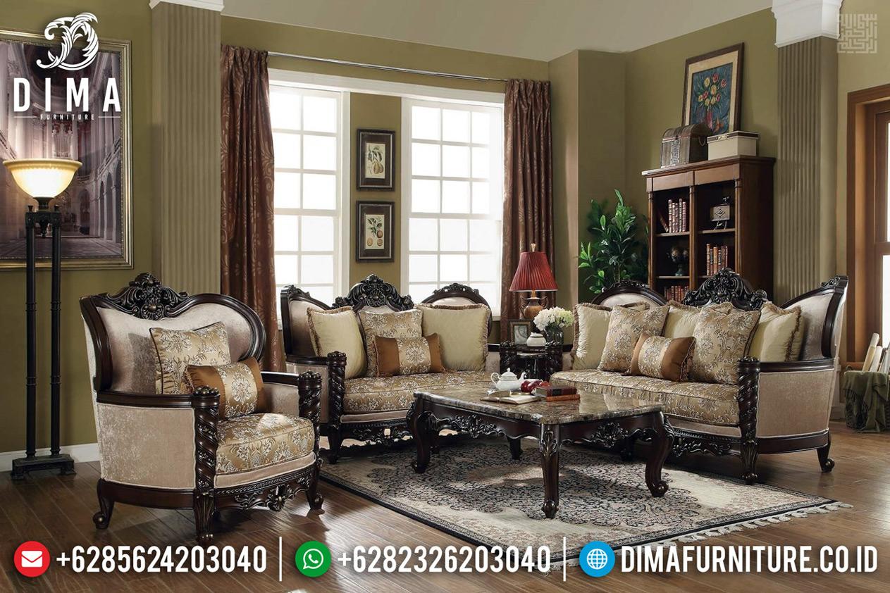 Sofa Tamu Klasik Ukiran Khas Kota Jepara Natural Jati Luxury BT-0639