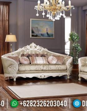Furniture Jepara Sofa Tamu Davinci Luxury Classic White Duco Glossy Jepara BT-0656