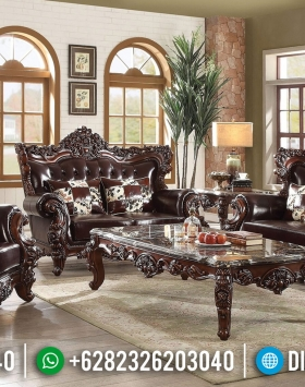 Kursi Sofa Tamu Mewah Natural Jati Luxury Carving Jepara Best Quality BT-0645