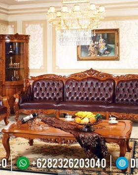 Sofa Tamu Mewah Klasik Jati Natural Rose Wood Color Furniture Jepara Terbaru BT-0644